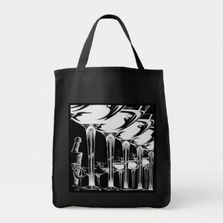 Champagne Glasses Grocery Tote Bag