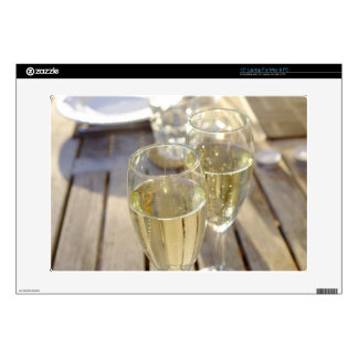 Champagne glasses laptop decals