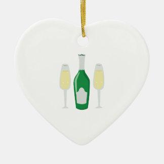Champagne Glasses Christmas Ornaments