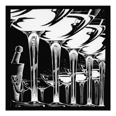 Champagne Glasses Personalized Invite