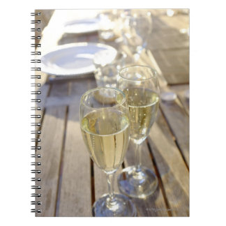 Champagne glasses spiral notebook