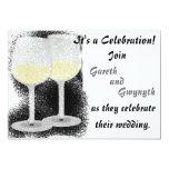 """Champagne Glasses Wedding Invitation 5"""" X 7"""" Invitation Card"""