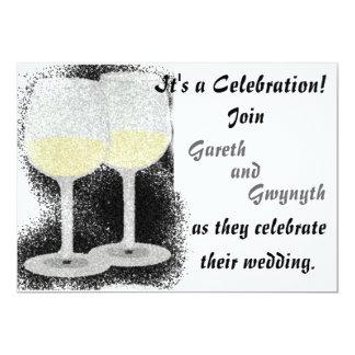 Champagne Glasses Wedding Invitation