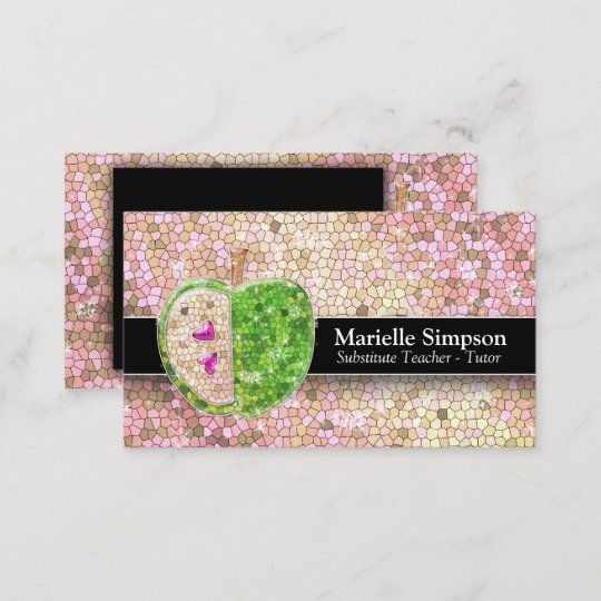 Pink Fashion Hairdresser Business Card: Champagne Gold Glitter And Glamour Business Card
