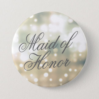 Champagne Glow Maid of Honor Button Pin