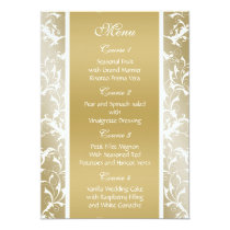 champagne gold Baroque Wedding Card