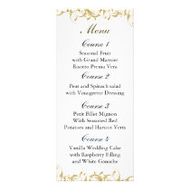 champagne gold Baroque Wedding Rack Card