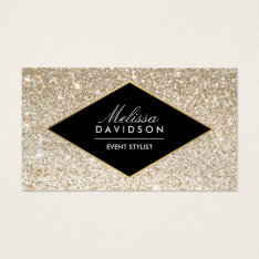 Champagne Gold Glitter And Glamour Business Card at Zazzle