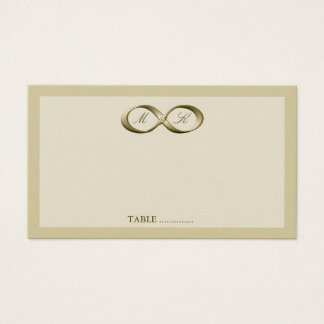 Champagne Gold Infinity Hand Clasp Wedding Place C Business Card
