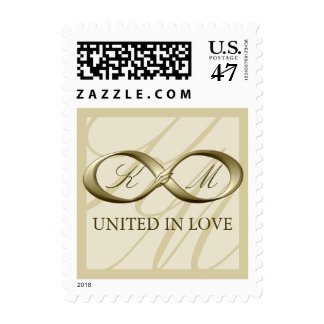 Champagne Gold Infinity Hand Clasp Wedding Stamps