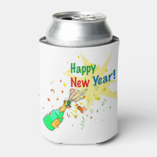 champagne - Happy New Year party Can Cooler