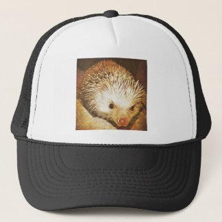 Champagne Hedgehog Digital Vintage Effect Trucker Hat