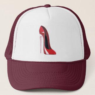 Champagne Heel Red Stiletto Shoe Art Clothing Trucker Hat