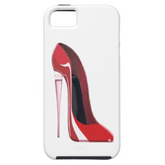 Champagne heel red stiletto shoe art iPhone 5 case