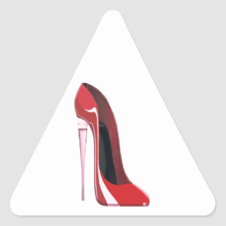 Champagne Heel Red Stiletto Shoe Art Triangle Sticker