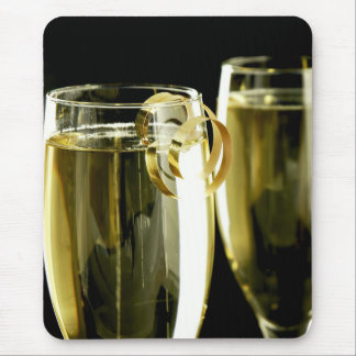 Champagne in Black Mouse Pad