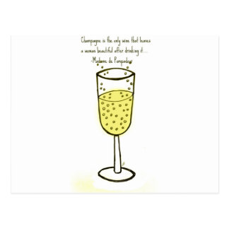 Champagne is the only wine...print by jill postcard
