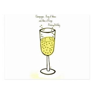 Champagne...King of Wines and Wine of Kings. Postcard