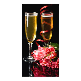champagne knell personalized photo card
