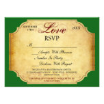 Champagne Label Winery Vineyard RSVP Personalized Invitation