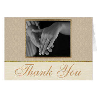 Champagne Lace Thank You Card