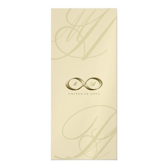 Champagne Love Infinity Hand Clasp Logo Wedding Card
