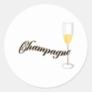 champagne lovers merchandise classic round sticker
