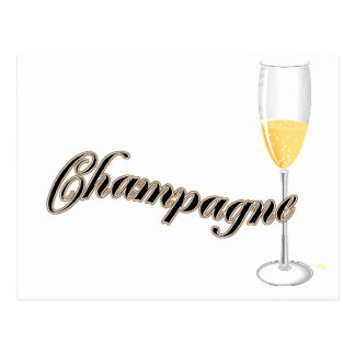 champagne lovers merchandise postcard