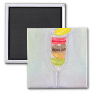 """Champagne Macaroons"" Magnet"