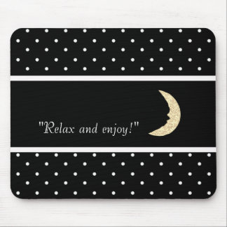 CHAMPAGNE-MOON-SELF-EXPRESSION--TEMPLATE MOUSE PAD