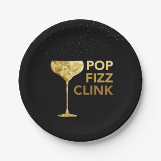 Champagne New Year Paper Plates