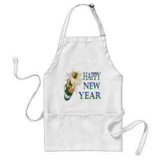 Champagne New Years Adult Apron