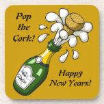 Champagne New Years Eve Cork Coaster