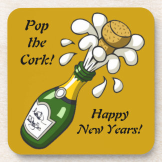 Champagne New Years Eve Cork Coaster