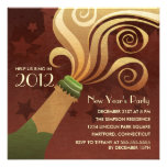 Champagne New Year's Eve Party Invitations