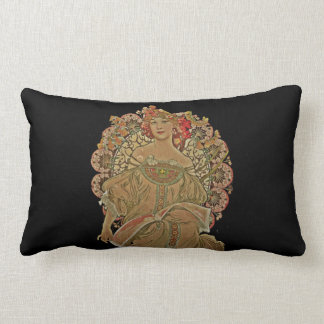 Champagne on Black Lumbar Pillow