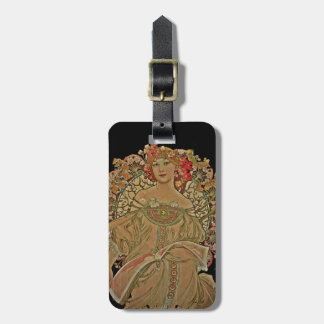Champagne on Black Travel Bag Tags