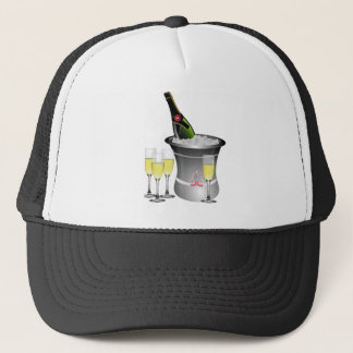 Champagne On Ice Trucker Hat