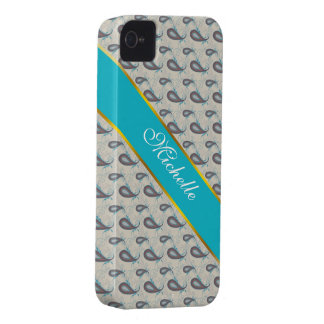 Champagne Paisley Pattern iPhone 4 Case-Mate Cases