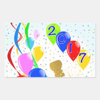 Champagne Party 2017 Rectangular Sticker