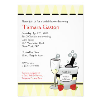 Champagne Party 5x7 Bridal Shower Invite