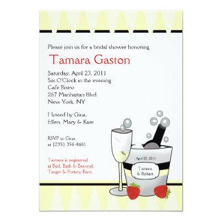 """Champagne Party 5x7 Bridal Shower Invite 5"""" X 7"""" Invitation Card"""