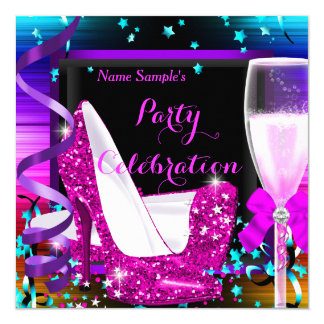Champagne Party Any Occasion Celebration Card