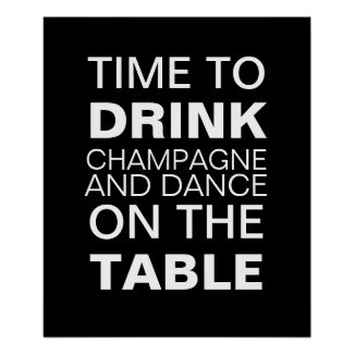 Champagne Party Poster