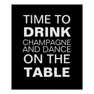 Champagne Party Poster Posters