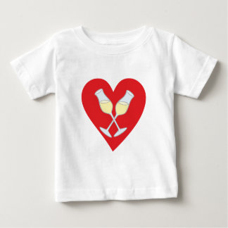 Champagne Perl-ends hearts champaign hearts Baby T-Shirt