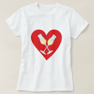 Champagne Perl-ends hearts champaign hearts Tshirt