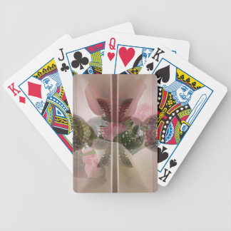 Champagne Pink Double exposure Classy Girly design Bicycle Playing Cards