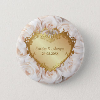 Champagne Pink Rose Elegance Button