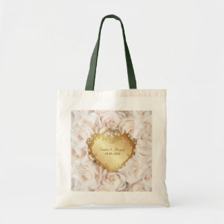 Champagne Pink Rose Elegance Tote Bag